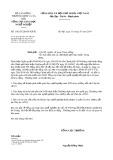 Công văn số 1342/TCGDNN-KHTC