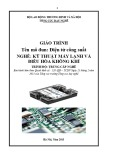 Giáo trình Điện tử công suất - Nghề: Kỹ thuật máy lạnh và điều hòa không khí - Trình độ: Trung cấp nghề (Tổng cục Dạy nghề)