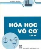 Ebook Hóa học vô cơ: Tập 3 - Hoàng Nhâm