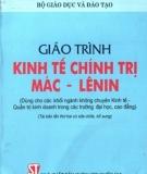 Giáo trình Kinh tế chính trị Mác - Lênin - Bộ Giáo dục và Đào tạo
