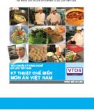 Tiêu chuẩn kỹ năng nghề du lịch Việt Nam: Kỹ thuật chế biến món ăn Việt Nam - Dự án phát triển nguồn nhân lực du lịch Việt Nam