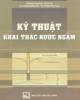 Ebook Kỹ thuật khai thác nước ngầm - TS. Phạm Ngọc Hải - TS. Phạm Việt Hòa (cùng biên soạn)
