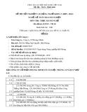 Đề thi tốt nghiệp cao đẳng nghề khóa 3 (2009-2012) - Nghề: Kế toán doanh nghiệp - Môn thi: Thực hành nghề - Mã đề thi: KTDN-TH18