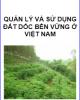 Ebook Quản lý và sử dụng đất dốc bền vững ở Việt Nam