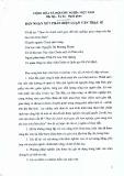 Bản nhận xét phản biện luận văn thạc sĩ về đề tài: Thực thi chính sách giao đất lâm nghiệp, giao rừng trên địa bàn tỉnh Sơn La