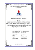 Khóa luận tốt nghiệp: Dịch vụ giao nhận hàng hóa xuất nhập khẩu bằng đường hàng không của công ty TNHH logistics MLC-ITL chi nhánh Hà Nội: Thực trạng và giải pháp