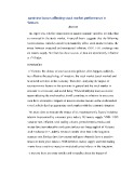 Gradute thesis: Examining factors affecting stock market performance in Vietnam