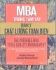 Ebook MBA trong Quản lý chất lượng toàn diện: Phần  2