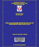 Nâng cao khả năng truyền tải (ATC) của hệ thống điện sử dụng thiết bị TCSC