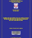 Nghiên cứu ảnh hưởng của các thông số phun ép đến độ bền kéo của sản phẩm Composite sợi thủ tinh Polyme