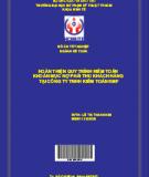 Hoàn thiện quy trình kiểm toán khoản mục nợ phải thu khách hàng tại Công ty TNHH Kiểm toán KMF