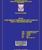 Hoàn thiện quy trình đảm bảo chất lượng tại Công ty TNHH Sonion Việt Nam