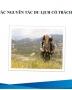 Bộ sưu tập Bài giảng Du lịch có trách nhiệm