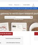 Cơ sở dữ liệu tạp chí điện tử của nhà xuất bản SAGE Publications Limited và Emerald Publishing Limited